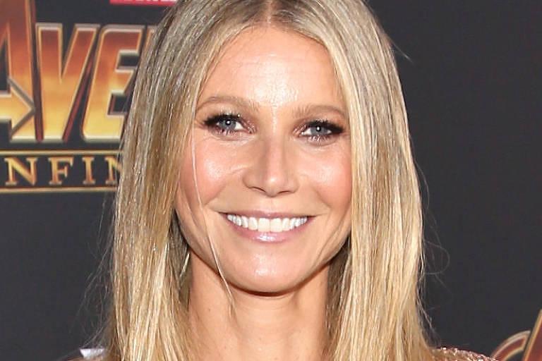 "Atriz Gwyneth Paltrow attends na premiere de ""Avengers: Guerra Infinita"" em Los Angeles"