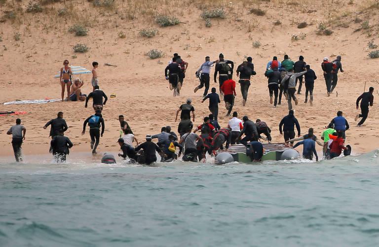 resgatados no mar