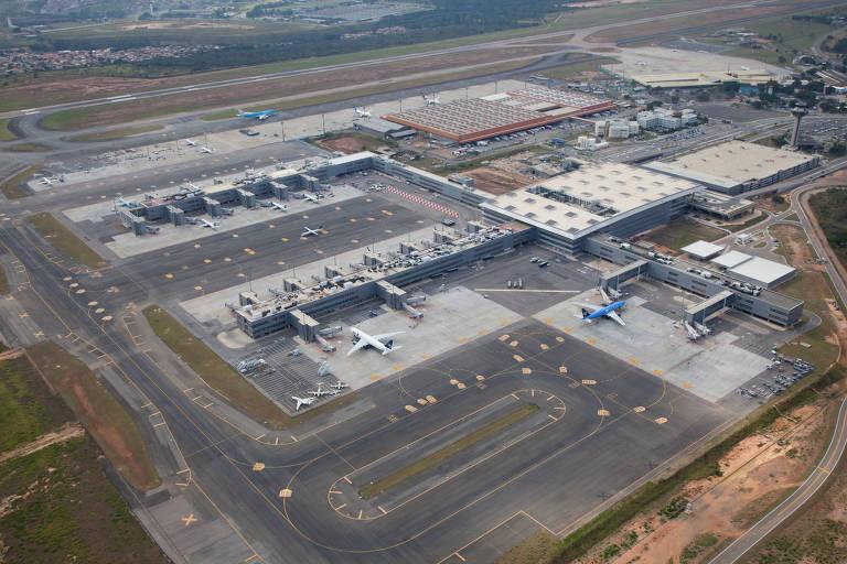 Vista aérea do aeroporto de Viracopos
