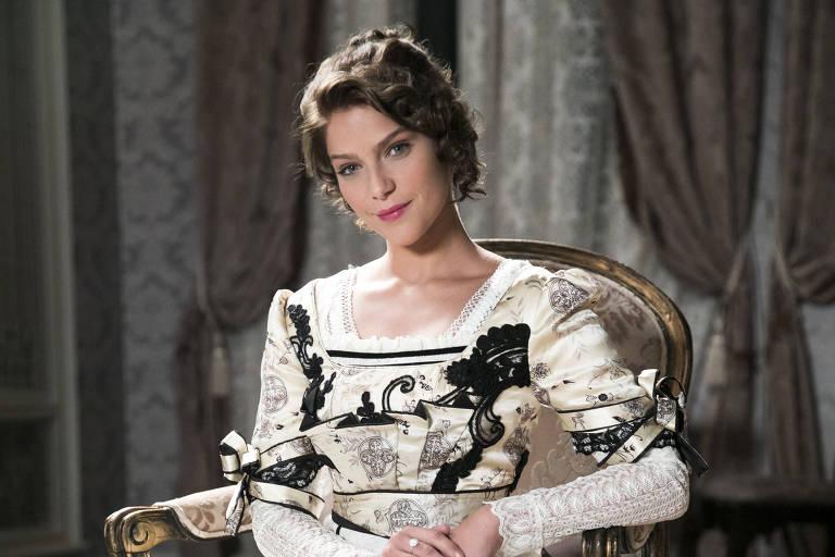 """Charlotte Williamson (Isabela Santoni) em cena de """"Orgulho e Paixão"""""""