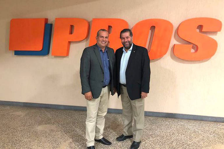 Eurípedes Júnior, presidente do Pros, com Carlos Lupi, presidente do PDT