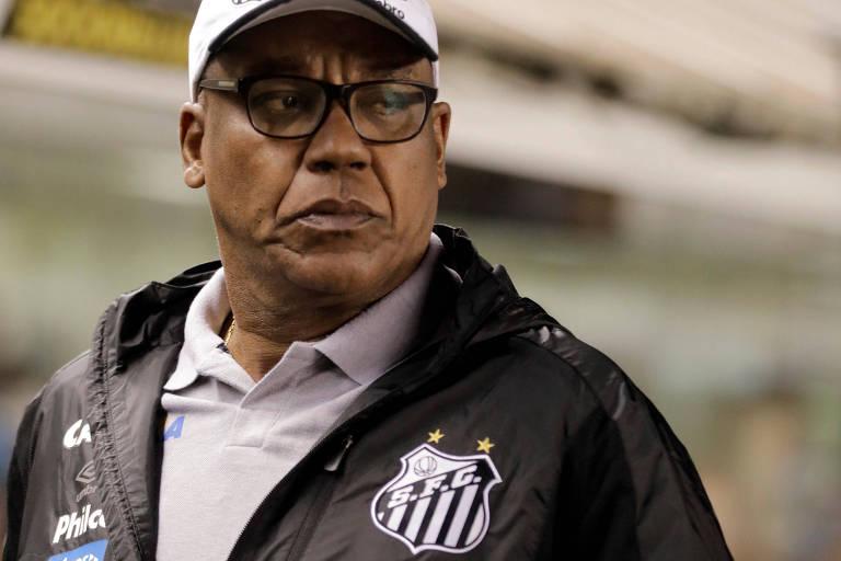 Serginho Chulapa, do Santos, na partida contra o Flamengo