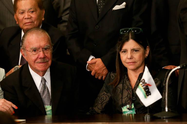 José Sarney e Roseana Sarney durante convenção nacional do PMDB