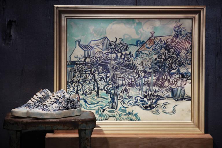 Obras de Van Gogh viram estampas de roupas e tênis