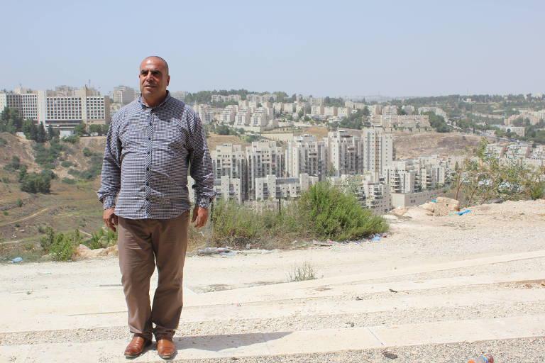 Ramadan Dabash, líder comunitário de Jerusalém Oriental que vai disputar a prefeitura da cidade