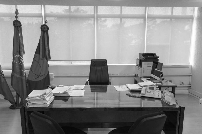 Gabinete e cadeira onde trabalhava o reitor Luiz Carlos Cancellier, da UFSC