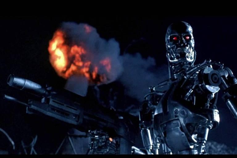 """Cena do filme """"O Exterminador do Futuro 2 - O Julgamento Final"""" (1991)"""