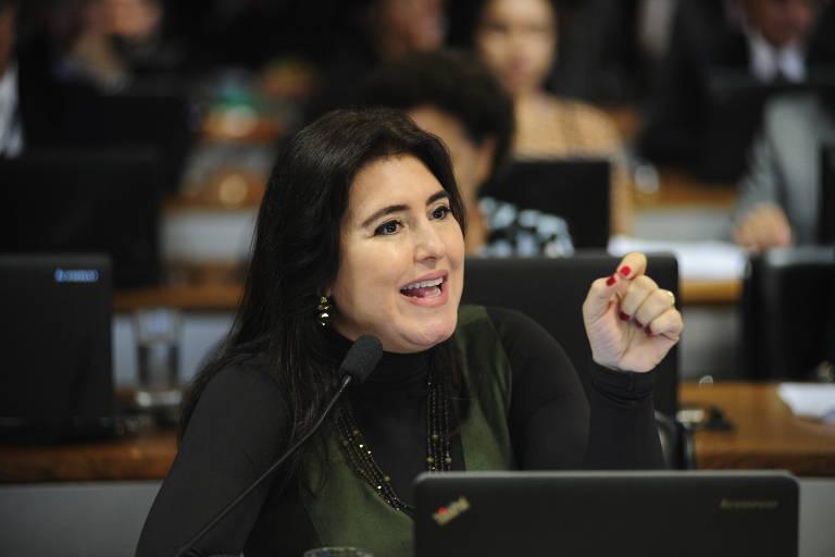 A senadora Simone Tebet (MDB-MS), que desistiu de se candidatar a governadora