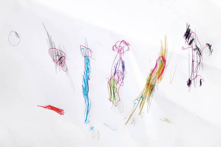 Desenho de Manuela Pellini Leal, de três anos