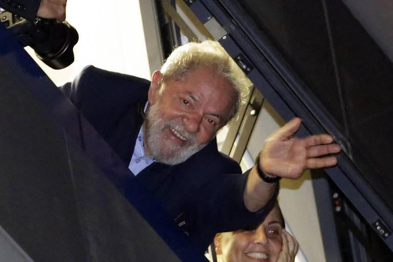 O ex-presidente Lula no dia 5 de abril de 2018