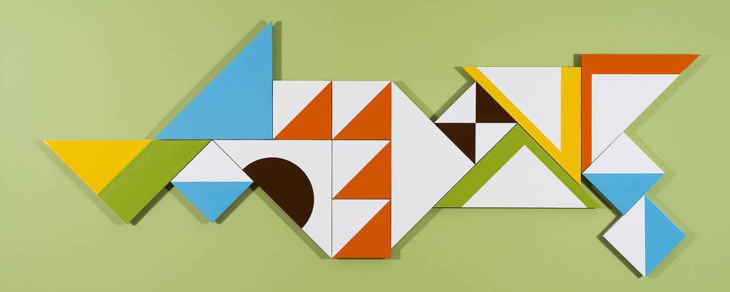 Obra do artista plástico Athos Bulcão exposta no Centro Cultural Banco do Brasil