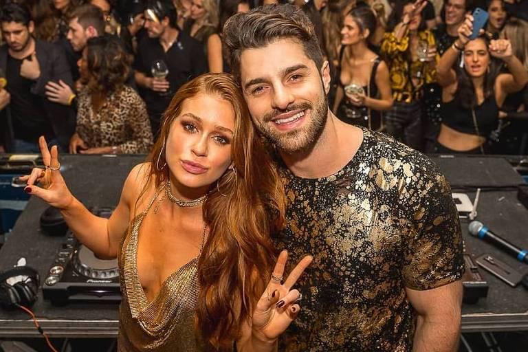 DJ Alok com a atriz Marina Ruy Barbosa durante festa no Rio de Janeiro