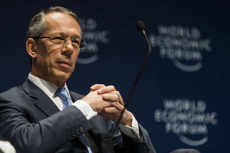 CEO do Itaú Unibanco, Candido Bracher, no segundo dia do Fórum Econômico Mundial, realizado no Hotel Hyatt