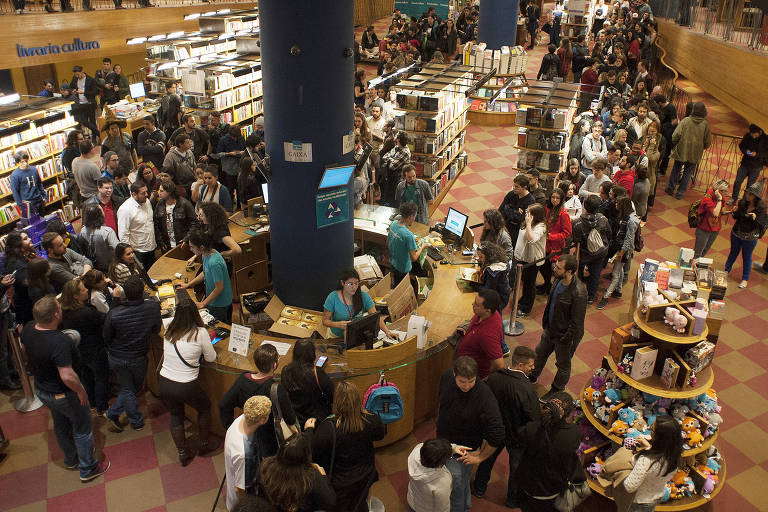 A Livraria Cultura do Conjunto Nacional, durante lançamento de livro