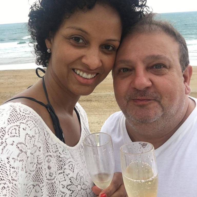 Erick Jacquin com a mulher, Rosângela Menezes, na França