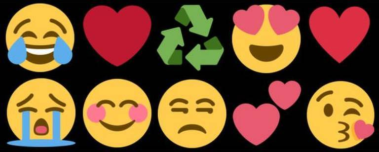 Emojis mais usados no Twitter e no Facebook
