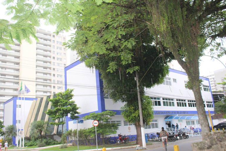 Fachada da Câmara Municipal de Guarujá