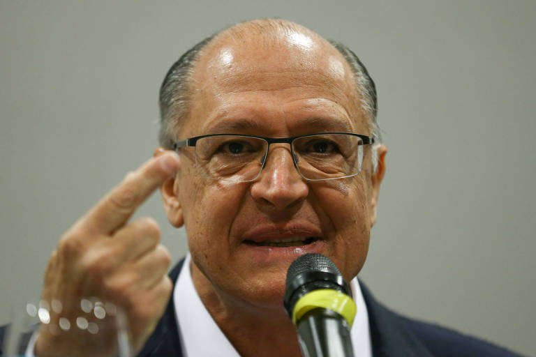 O pré-candidato Geraldo Alckmin (PSDB), em evento em Brasília