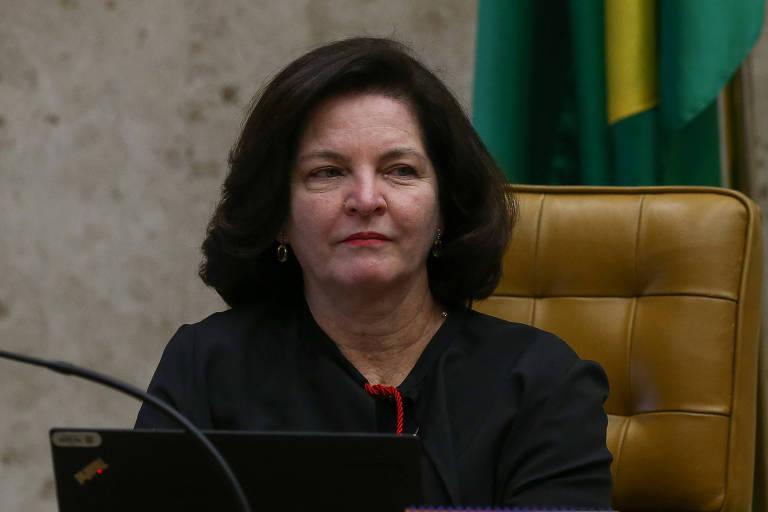 A procuradora-geral eleitoral, Raquel Dodge, durante sessão no STF. Ela contestou o registro de candidatura de Lula à Presidência