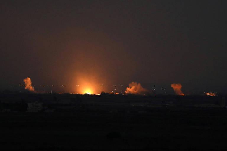 Explosão do lado sírio da fronteira na semana passada é vista pelo lado israelense