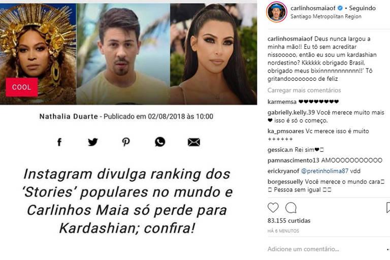 Post de Carlinhos Maia no Instagram