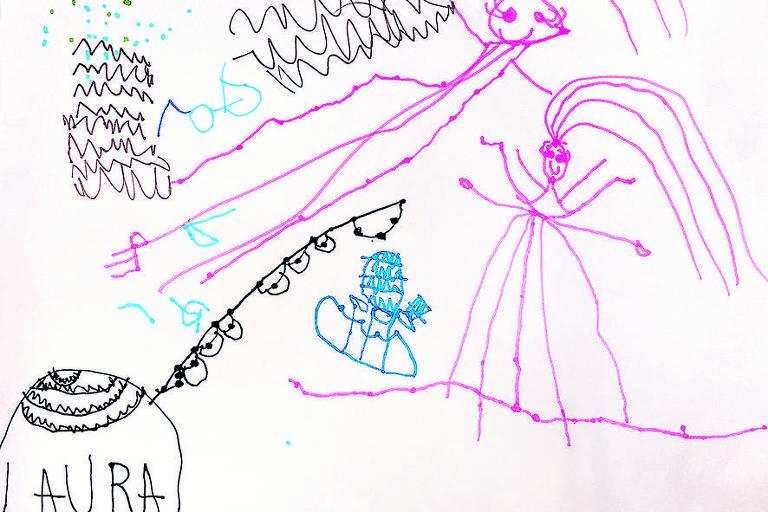 Desenho de Laura Gardim, seis anos