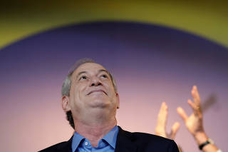 Ciro Gomes reacts during the national convention of the Democratic Labor Party (PDT) where he was formalized as candidate for the Presidency of the Republic, in Brasilia
