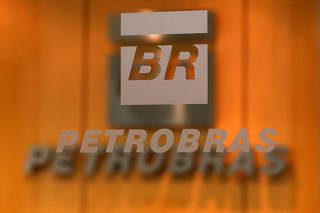 FILE PHOTO: The logo of Brazil's state-run oil company Petrobras is pictured in the company headquarters in Sao Paulo