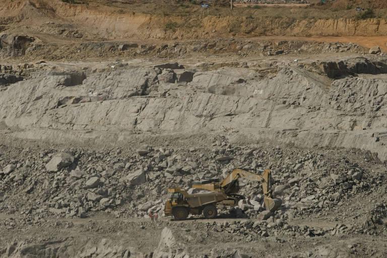 Canteiro de obras do sítio Belo Monte em Vitória do Xingu, no Pará