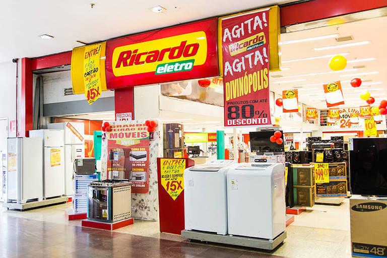 Loja Ricardo Eletro, marca da Máquina de Vendas