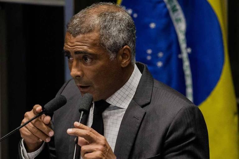 Ex-jogador Romário, que oficializou sua candidatura ao governo o Rio