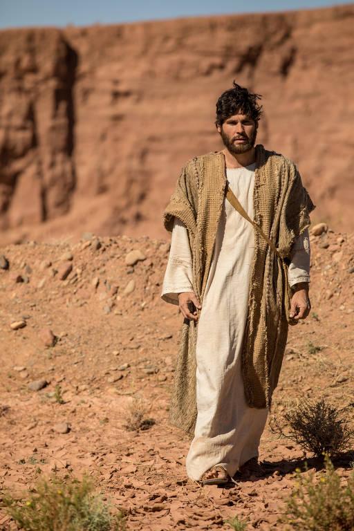 Jesus (Dudu Azevedo) em novela da RecordTV