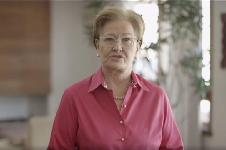 Ana Amélia em seu primeiro pronunciamento como vice do presidenciável Geraldo Alckmin