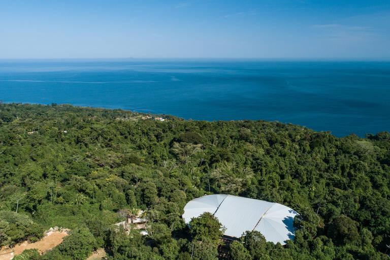 O Centro Cultural Baía dos Vermelhos, em Ilhabela, onde acontece a quarta edição do Festival Vermelhos