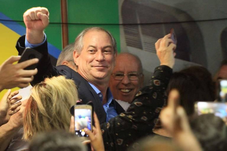 O candidato à Presidência, Ciro Gomes, durante convenção no Rio de Janeiro
