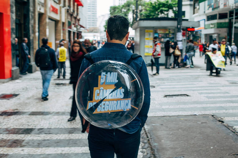 A mochila em 3D foi desenvolvida pelos publicitários Gabriel Cecilio e Leandro Nunes