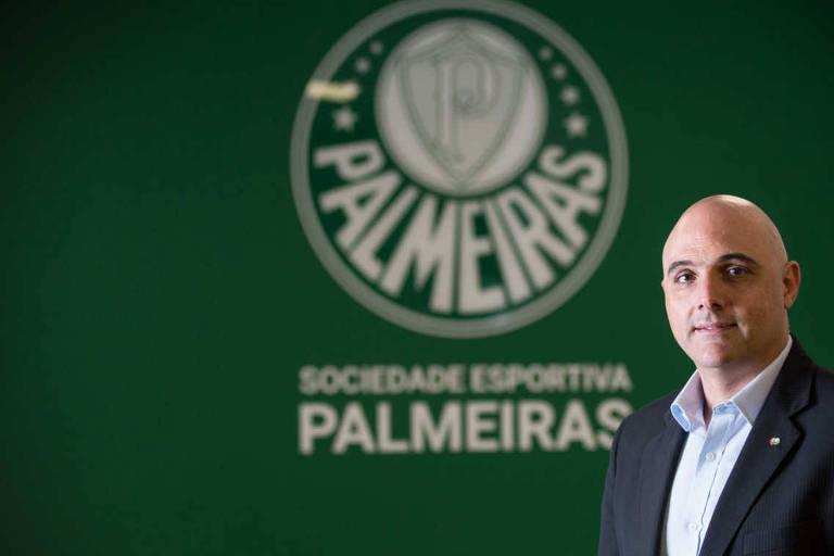 Mauricio Galiotte, presidente do Palmeiras, na sede social do Clube em Perdizes