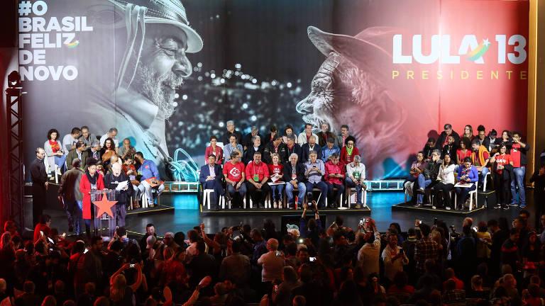 <strong>PT lança Lula candidato à Presidência</strong>