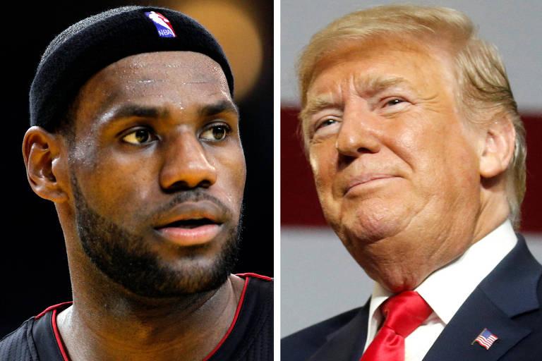 Com crítica a LeBron, Trump volta a ser alvo de atletas nos EUA