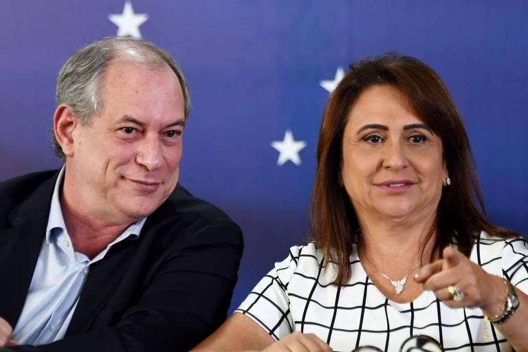 Ciro Gomes e Kátia Abreu em Brasília