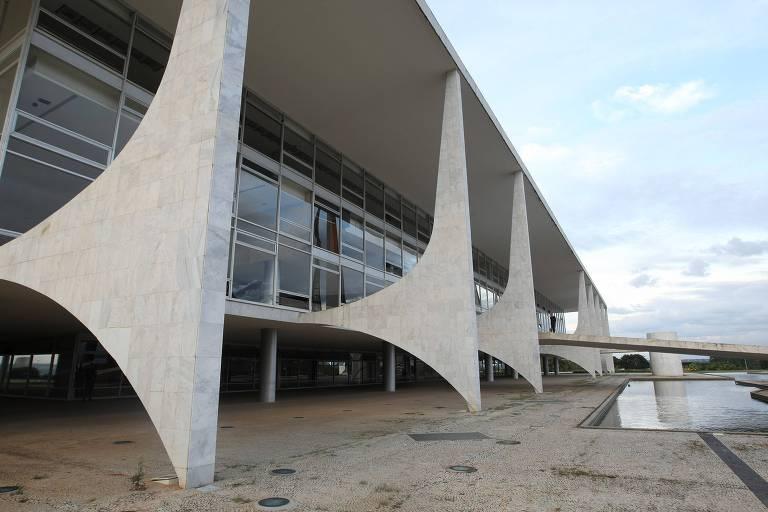 Fachada do Palácio do Planalto, sede da Presidência da República, em Brasília