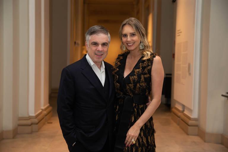 Os empresários Flávio e Anna Claudia Rocha