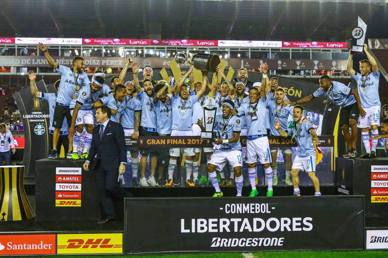 Tìtulos de Libertadores por clube na atual edição