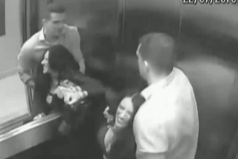 Imagens de câmeras de segurança do prédio mostram agressões do marido suspeito pela morte da advogada Tatiane Spitzner, que caiu do quarto andar de um prédio em Guarapuava (PR)