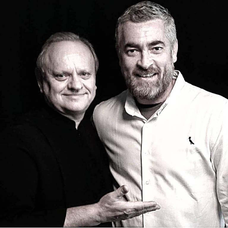 O chef francês Joël Robuchon e Alex Atala