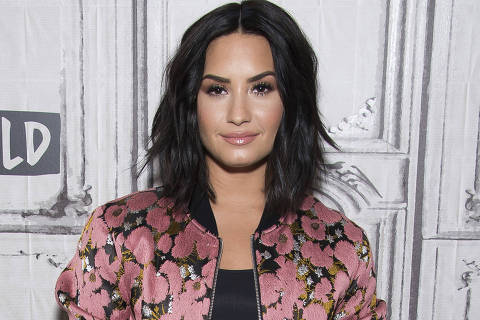 FILE - In this March 20, 2017 file photo, Demi Lovato participates in the BUILD Speaker Series to discuss