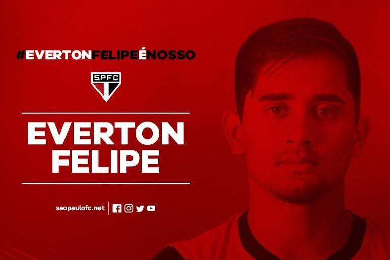 São Paulo anuncia a contratação de Everton Felipe, do Sport
