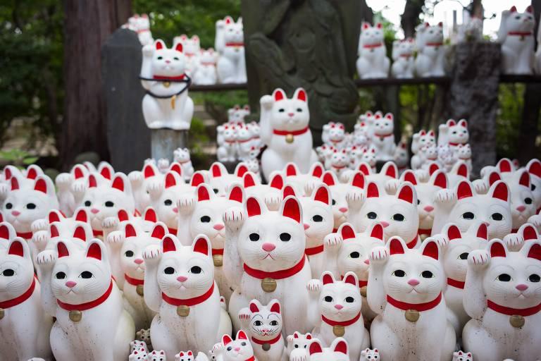 Gatos da sorte no Japão