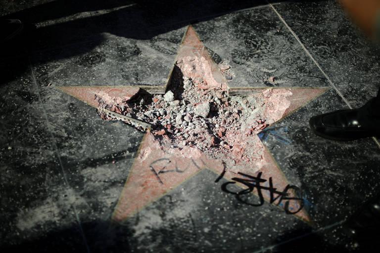 Conselho de West Hollywood pede remoção de estrela de Trump da Calçada da Fama