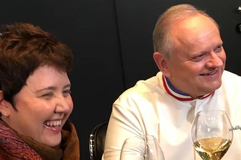 A chef Roberta Sudbrack ao lado de Joël Robuchon